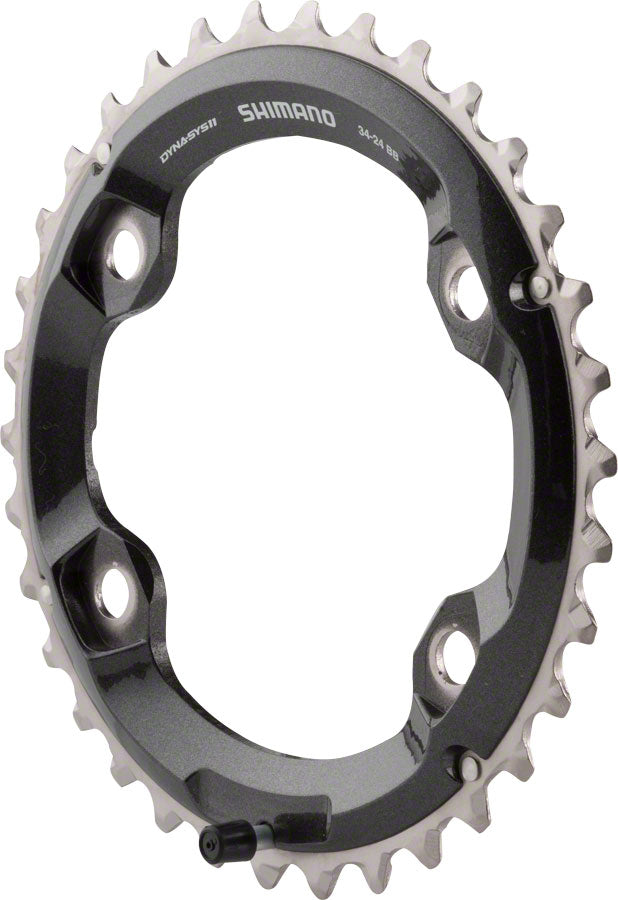 Shimano XT M8000 34t 96mm 11-Speed Outer Chainring for 34-24t Set
