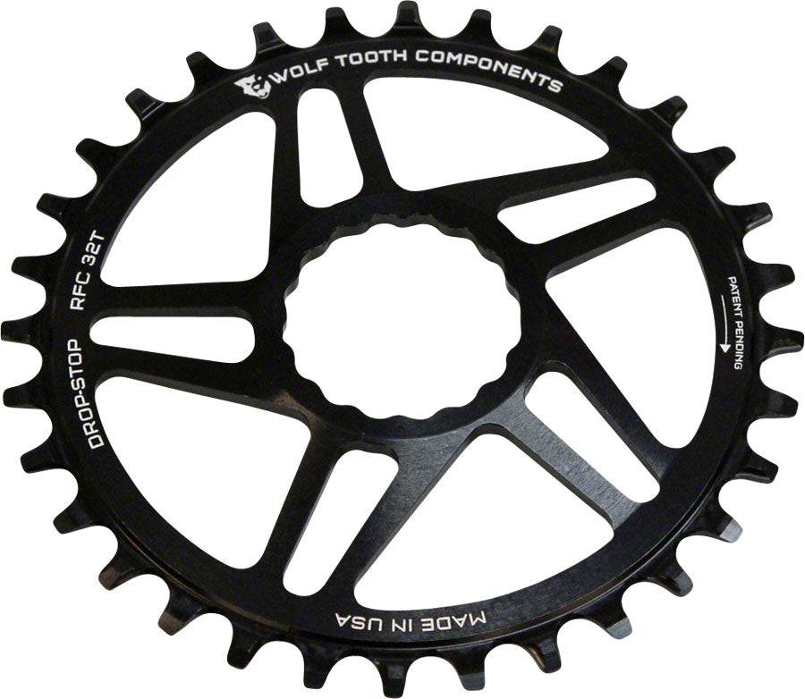 Wolf Tooth Components Drop-Stop Chainring 30T DM for RaceFace Cinch Cranks Black