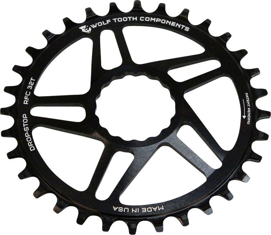 Wolf Tooth Components Drop-Stop Chainring 32T Direct Mount RaceFace Cinch Black