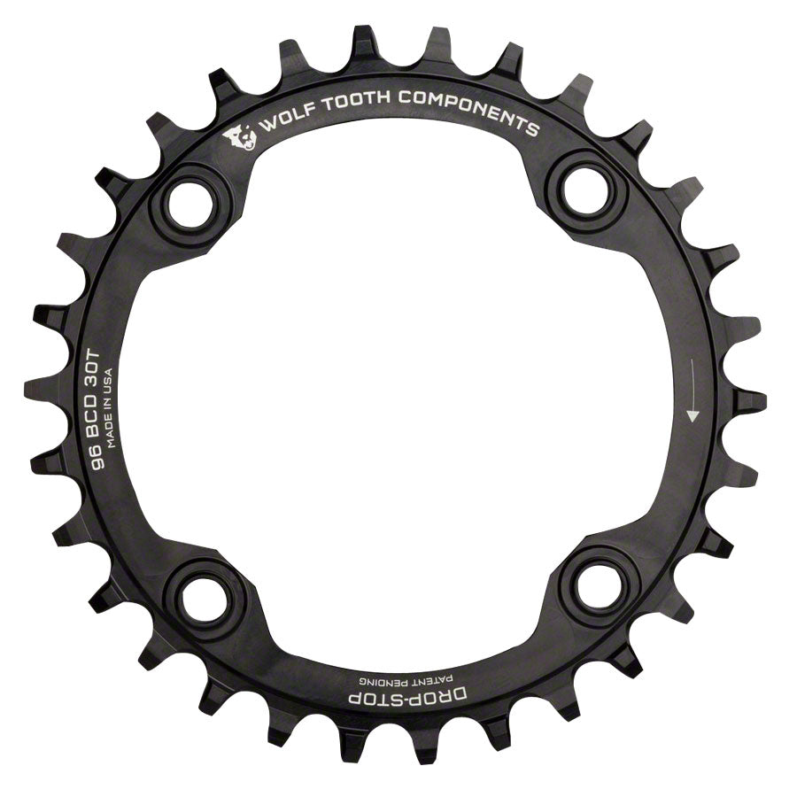 Wolf Tooth 96 Symmetrical BCD Chainring - 32t, 96 BCD, 4-Bolt, Drop-Stop, For Shimano Cranks, Black MPN: SYM9632 UPC: 812719021586 Chainring 96 Symmetrical BCD Chainrings