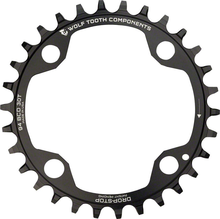 Wolf Tooth 94 BCD Chainring - 32t, 94 BCD, 4-Bolt, Drop-Stop, For SRAM Cranks, Black MPN: SR4-9432 UPC: 810006800333 Chainring 94 BCD 4-Bolt Chainrings