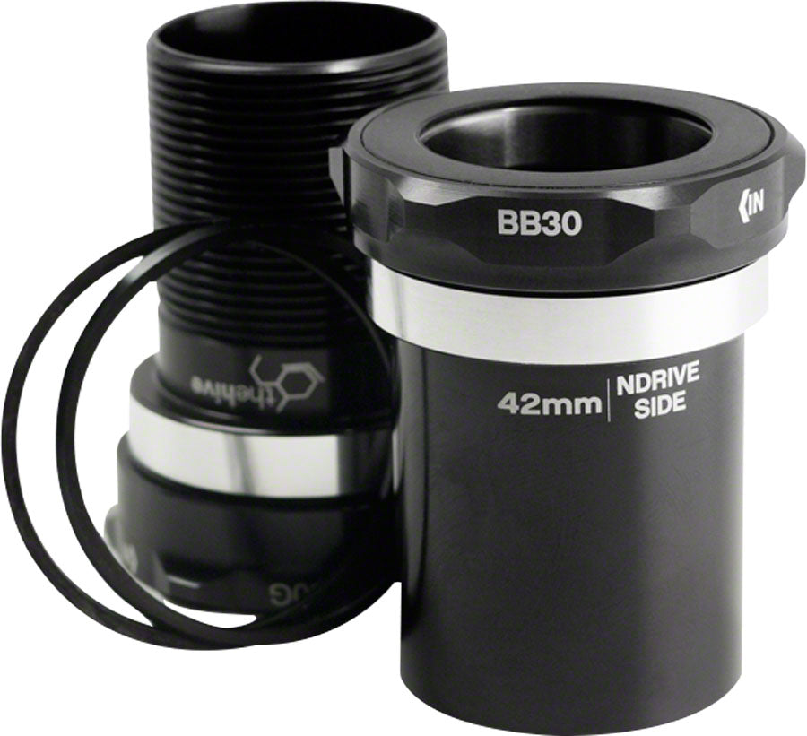 e*thirteen BB30 Bottom Bracket 68/73, Black - Bottom Brackets - Non-Threaded Bottom Bracket