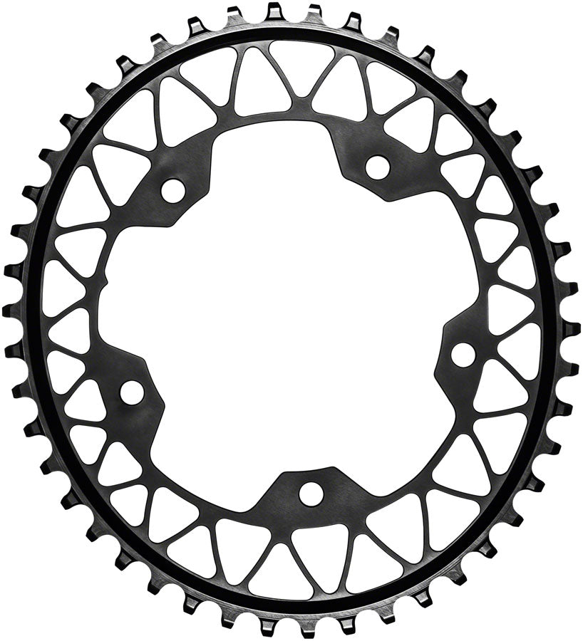absoluteBLACK Oval 110 BCD Gravel Chainring - 44t, 110 BCD, 5-Bolt, Narrow-Wide, Black MPN: GROV44/110/5BK Chainring Oval 110 BCD 5-Bolt Gravel Chainring