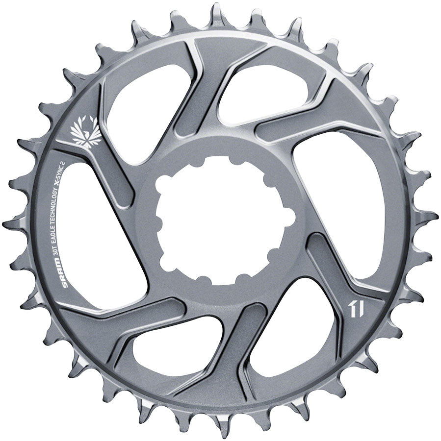 SRAM 30T X-Sync 2 Direct Mount Eagle Chainring 3mm Boost Offset, Polar Gray MPN: 11.6218.042.005 UPC: 710845827167 Direct Mount Chainrings X-Sync 2 Eagle Direct Mount Chainring