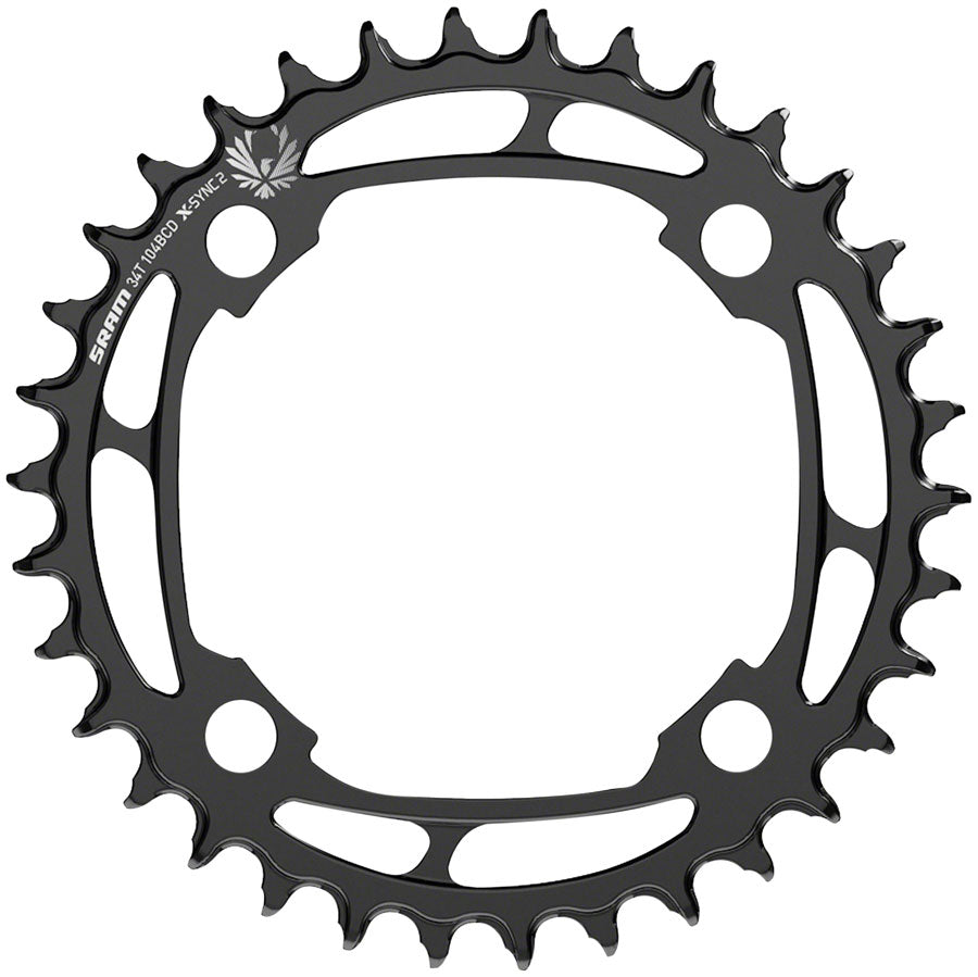 SRAM X-Sync 2 Steel Eagle Chainring - 34T, 104mm Bolt Circle Diameter, Black