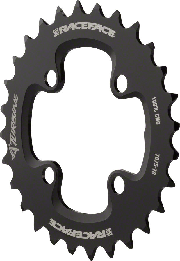 RaceFace Turbine 11-Speed Chainring: 64mm BCD, 26t, Black MPN: RRT1164X26BLK UPC: 821973286914 Chainring Turbine 11-Speed Chainrings