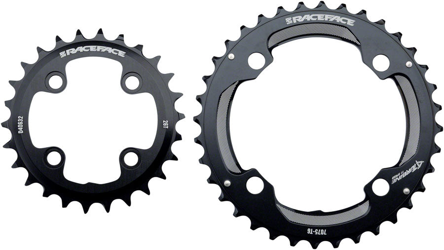 RaceFace Turbine 11-Speed Chainring: 64/104mm BCD, 28/38t, Black - Chainring - Turbine 11-Speed Chainrings