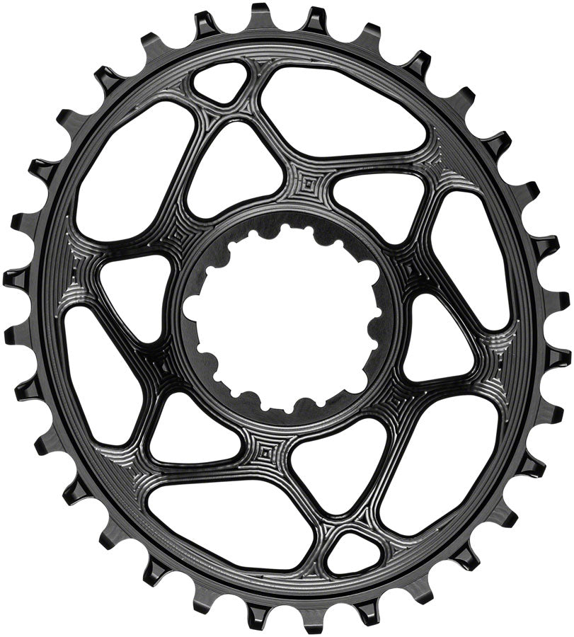 absoluteBLACK Oval Narrow-Wide Direct Mount Chainring - 32t, SRAM 3-Bolt Direct Mount, 3mm Offset, Black MPN: SROVBOOST32BK Direct Mount Chainrings Oval Direct Mount Chainring for SRAM 3-Bolt