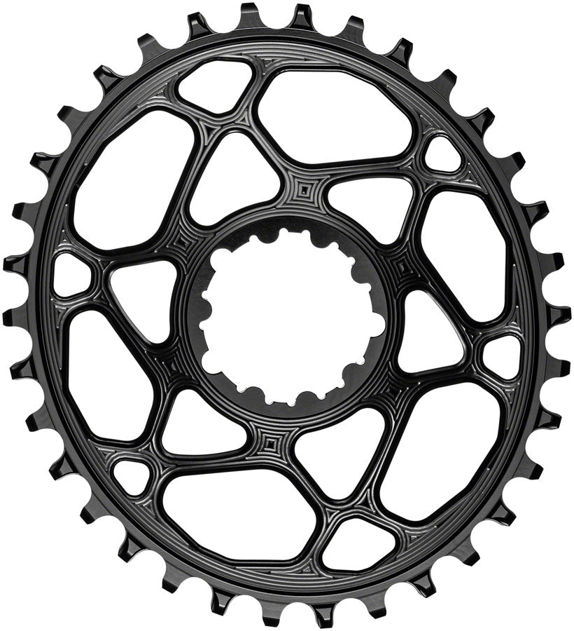 absoluteBLACK Oval Narrow-Wide Direct Mount Chainring - 34t, SRAM 3-Bolt Direct Mount, 3mm Offset, Black