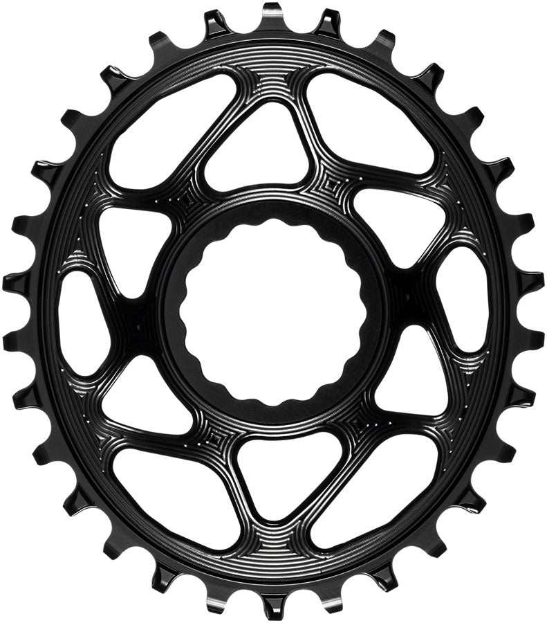 absoluteBLACK Oval Narrow-Wide Direct Mount Chainring - 30t, CINCH Direct Mount, 3mm Offset, Black
