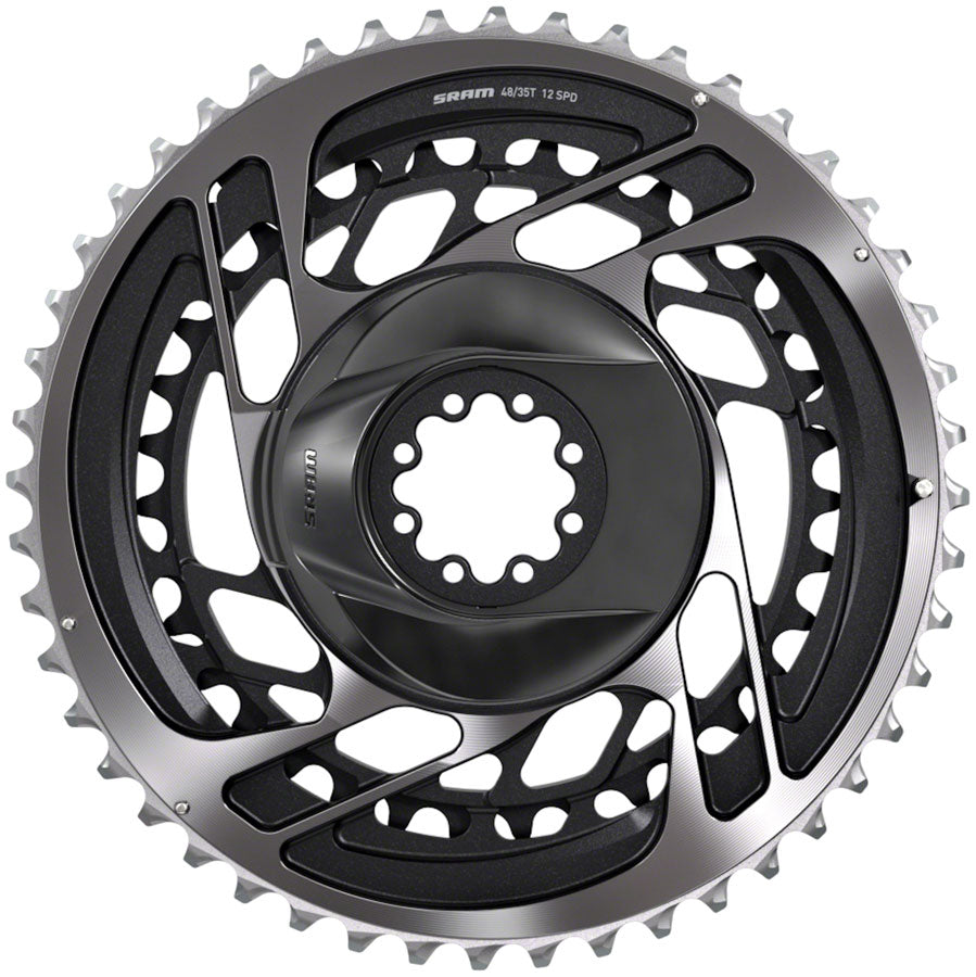 SRAM Red AXS Direct-Mount 48/35t 2x12 speed Chainring Set, Polar Gray MPN: 00.6218.017.001 UPC: 710845825767 Direct Mount Chainrings RED AXS Direct Mount Chainring Set