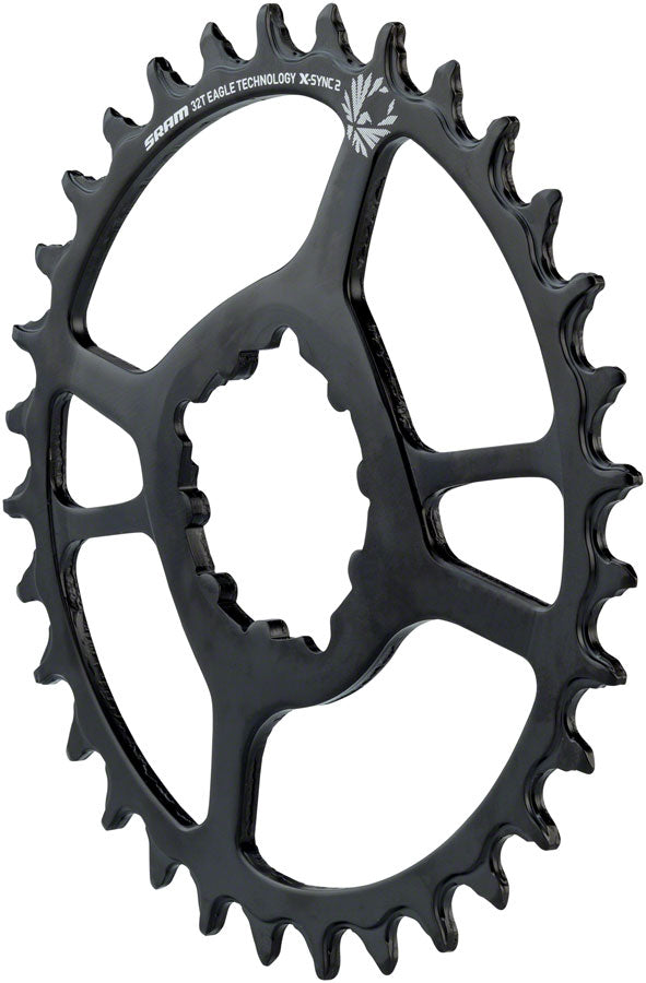 SRAM Eagle Chainring X-Sync 2 Oval 34T Direct Mount 6mm Offset Black