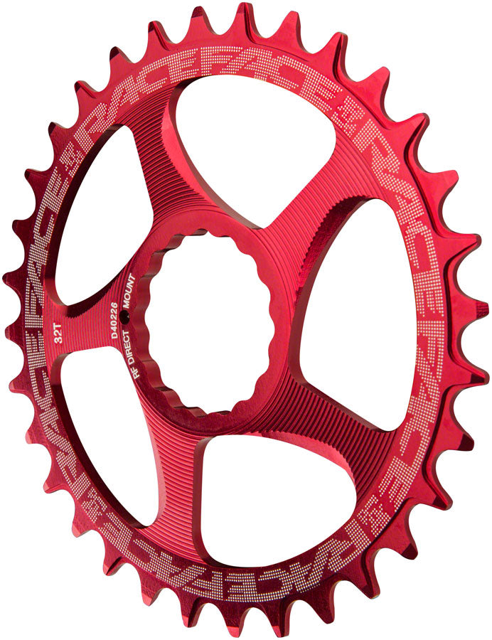 RaceFace Narrow Wide Chainring: Direct Mount CINCH, 32t, Red