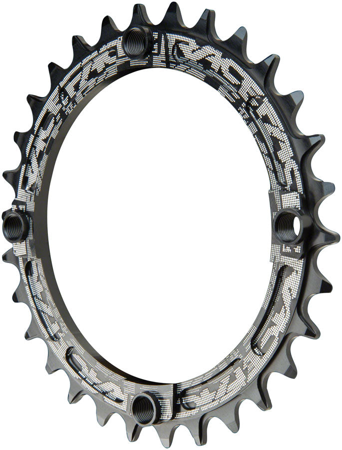 RaceFace Narrow Wide Chainring: 104mm BCD, 30t, Black MPN: RNW104X30BLK UPC: 821973329857 Chainring Narrow Wide