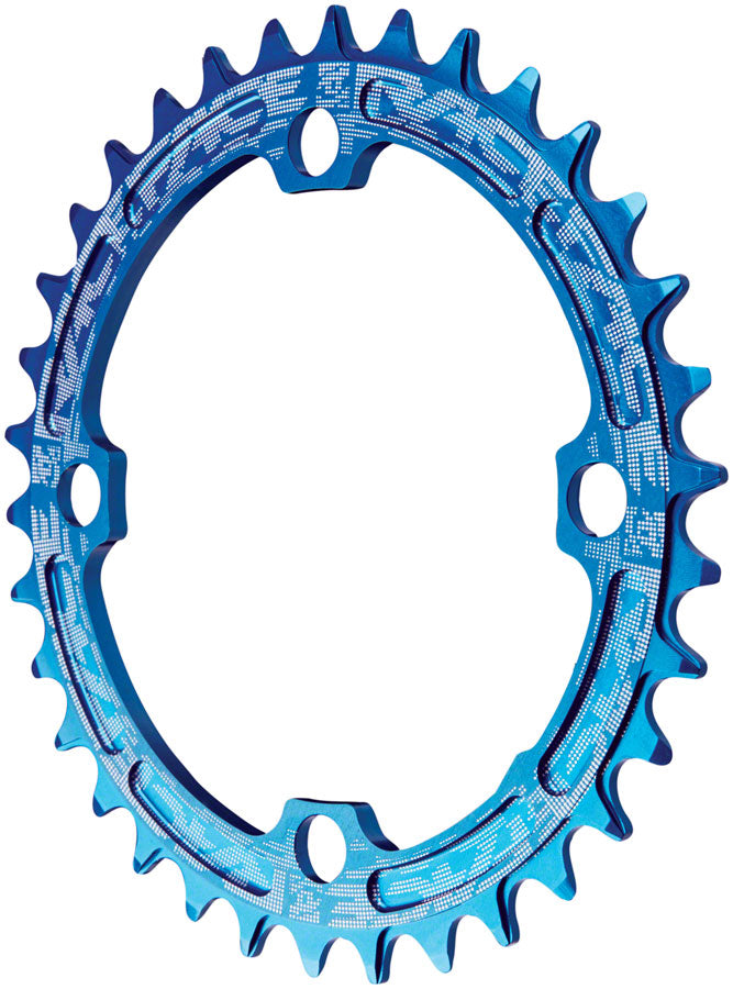 RaceFace Narrow Wide Chainring: 104mm BCD, 38t, Blue