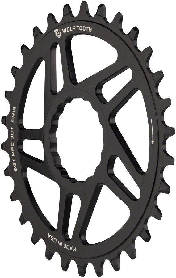 Wolf Tooth Direct Mount Chainring - 32t, RaceFace/Easton CINCH Direct Mount, Boost, 3mm Offset, Requires 12-Speed - Direct Mount Chainrings - RaceFace/Easton CINCH Hyperglide+ Direct Mount Mountain Chainrings