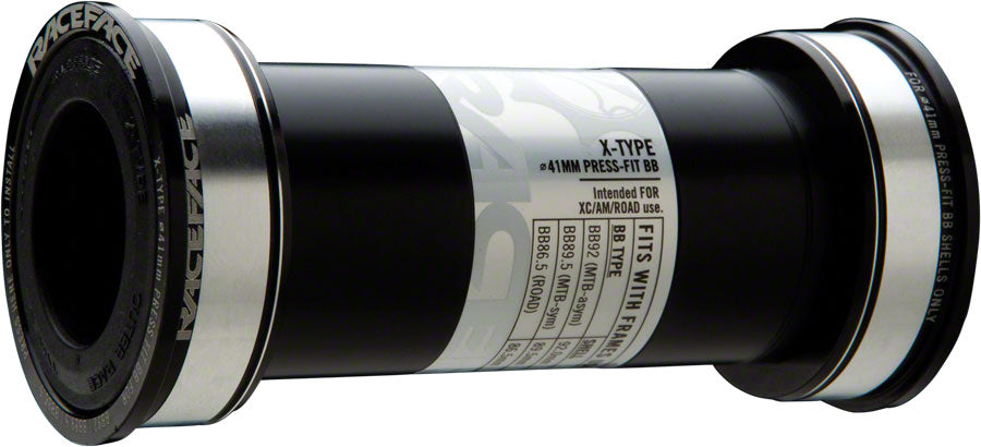 RaceFace X-Type Bottom Bracket: 41mm ID x 92mm BB Shell x 24mm Spindle (BB92)