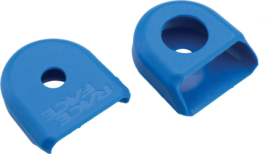 Race Face Large Crank Boots, 2-Pack Blue For Carbon or Alloy Cranks