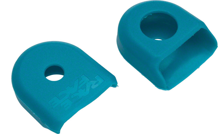 Race Face Large Crank Boots, 2-Pack Turquoise Pair for Carbon Cranks