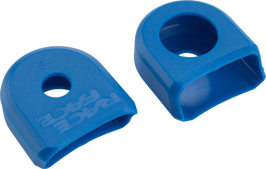 RaceFace Crank Boots: For Alloy Cranks, 2-Pack Blue MPN: A10068BLU UPC: 895428020170 Crank Part Crank Boots - For Alloy
