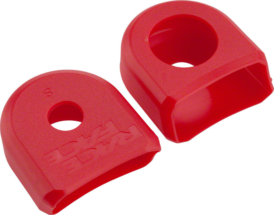 Race Face Small Crank Boots, 2-Pack Red, for Alloy Cranks