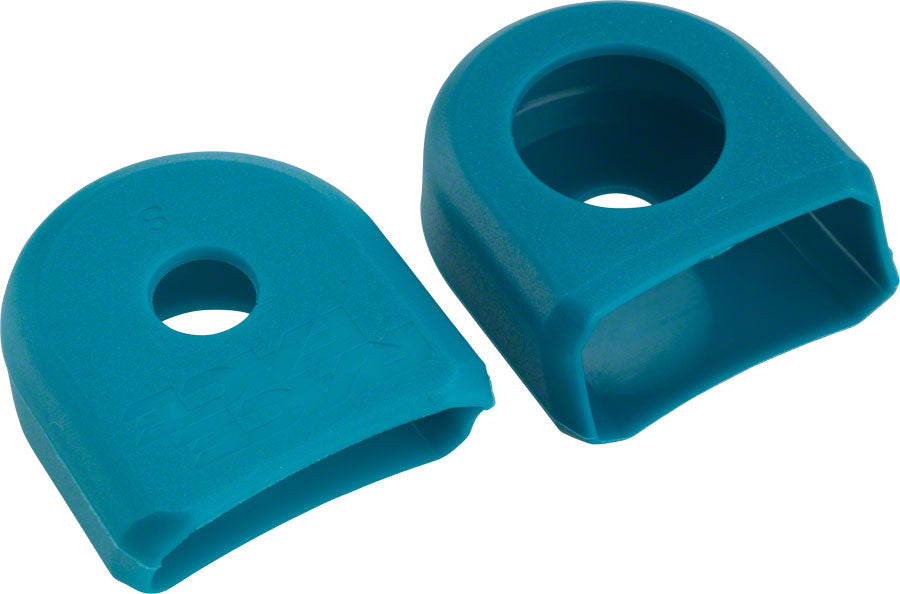 Race Face Small Crank Boots, 2-Pack Turquoise, for Alloy Cranks