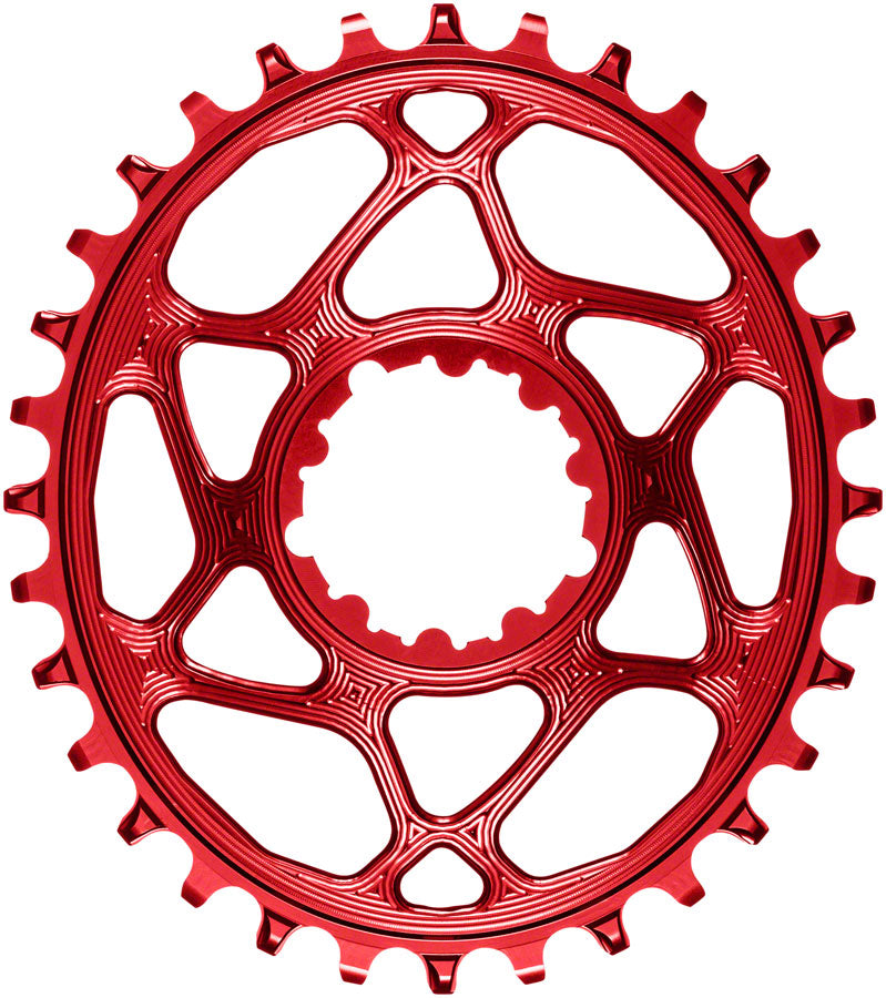 absoluteBLACK Oval Narrow-Wide Direct Mount Chainring - 32t, SRAM 3-Bolt Direct Mount, 3mm Offset, Red