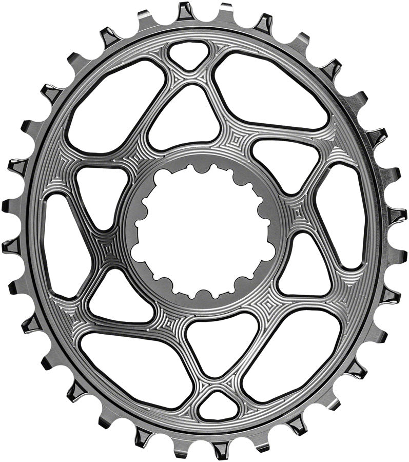 absoluteBLACK Oval Narrow-Wide Direct Mount Chainring - 32t, SRAM 3-Bolt Direct Mount, 3mm Offset, Titanium