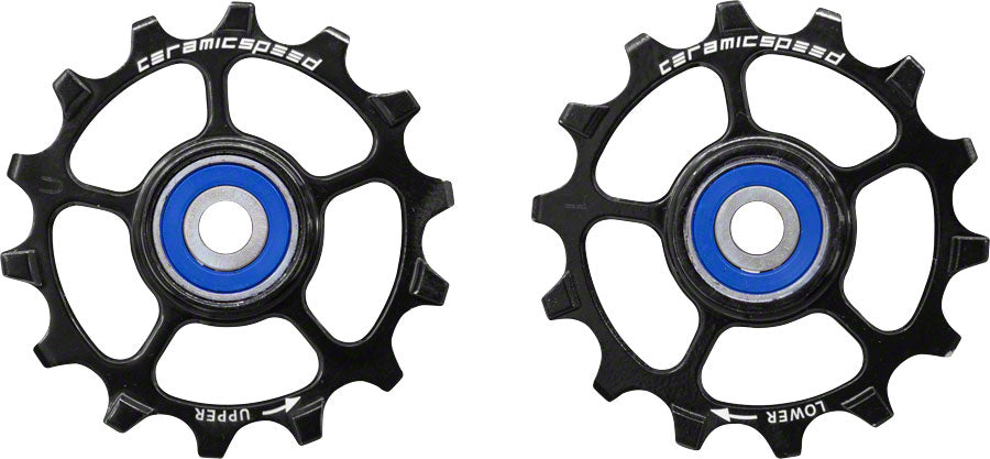 CeramicSpeed SRAM Eagle-14 1x12-speed Pulley Wheels: Stainless Steel, Black MPN: 103343 Pulley Assembly Pulley Wheels