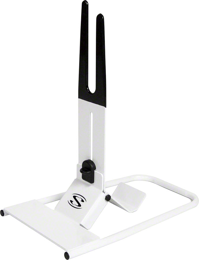 Saris The Boss Folding Bike Display Stand: White MPN: 6014 UPC: 012527012985 Rack, Display/Storage The Boss Bike Storage