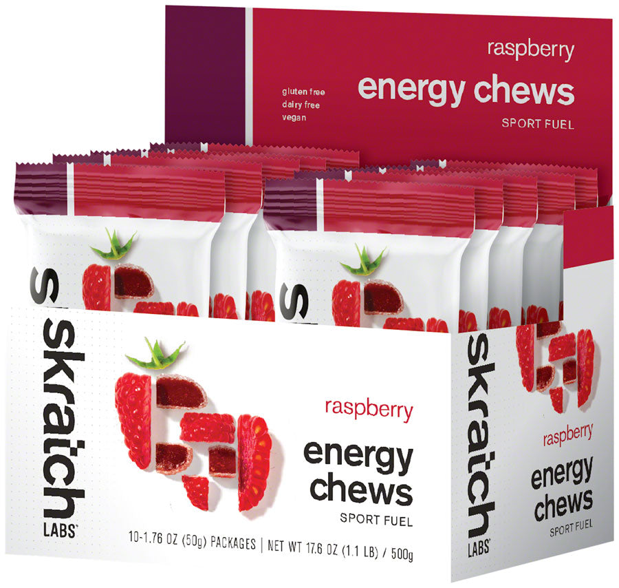 Skratch Labs Sport Energy Chews: Raspberry, Box of 10