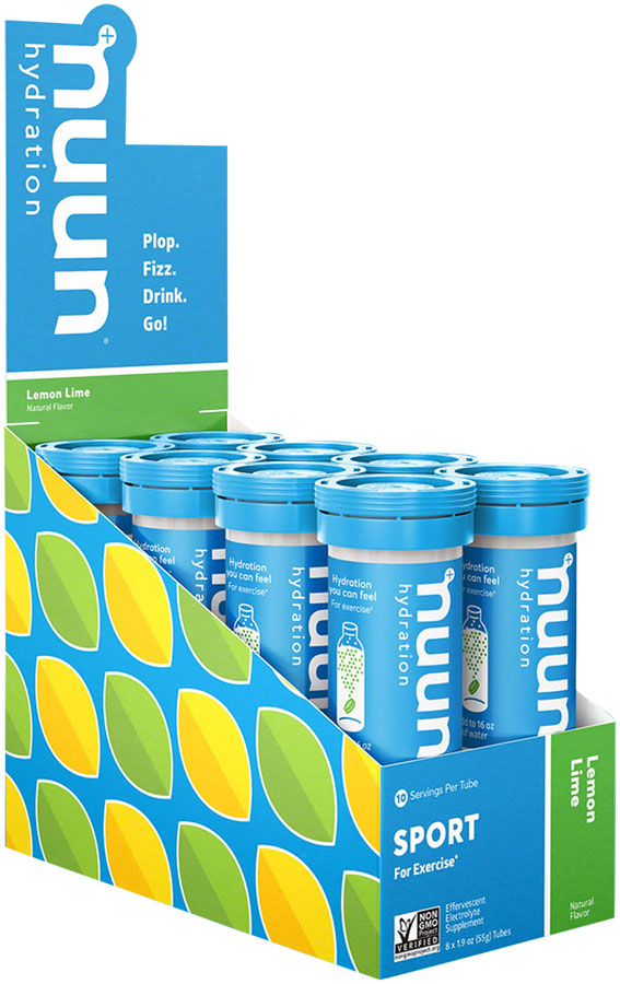Nuun Sport Hydration Tablets: Lemon Lime, Box of 8 Tubes