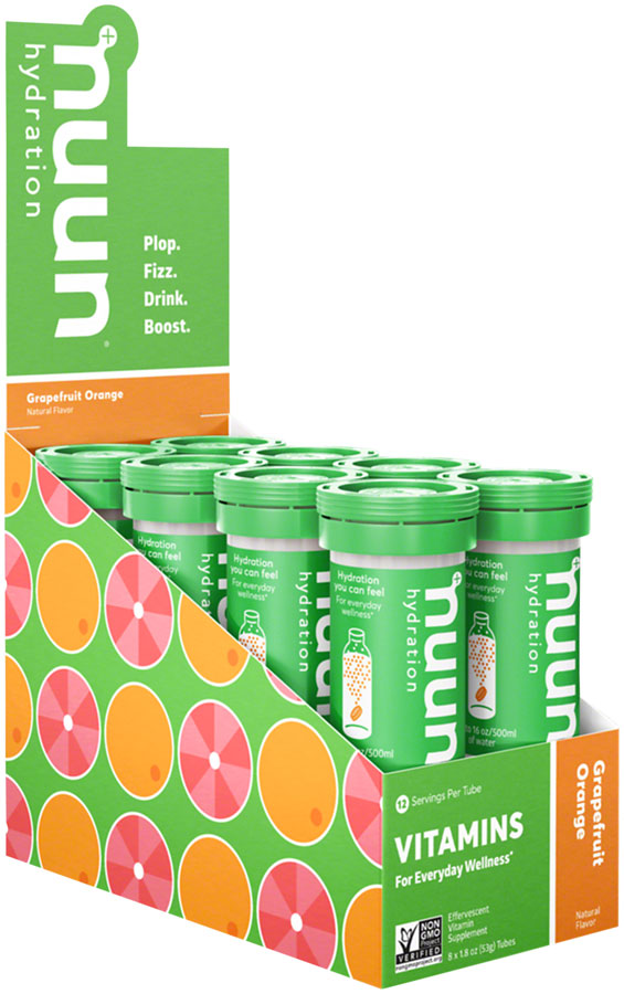 Nuun Vitamins Hydration Tablets: Grapefruit Orange, Box of 8