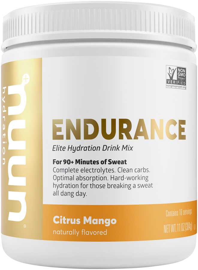 Nuun Endurance Hydration Drink Mix: Citrus Mango, 16 Serving Canister