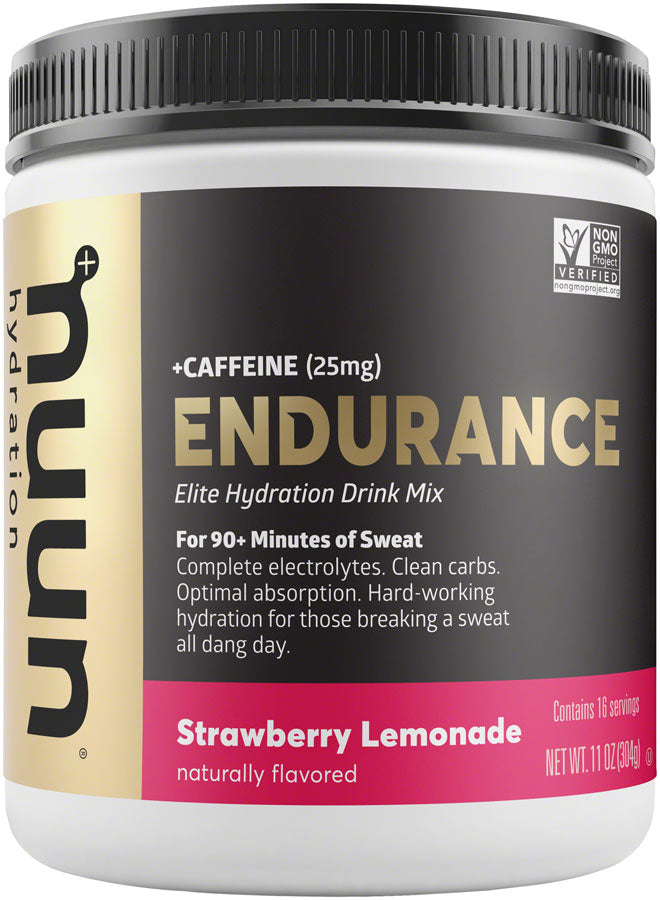 Nuun Endurance Hydration Drink Mix: Strawberry Lemonade + Caffeine, 16 Serving Canister