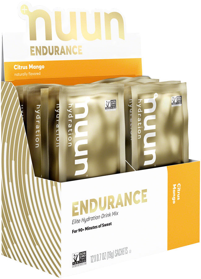 Nuun Endurance Hydration Drink Mix: Citrus Mango, Box of 12 Single Serving Sleeves