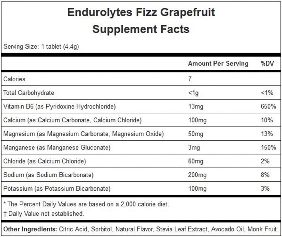 Hammer Endurolytes Fizz: Grapefruit Box of 12 - Sport Hydration - Endurolytes Fizz