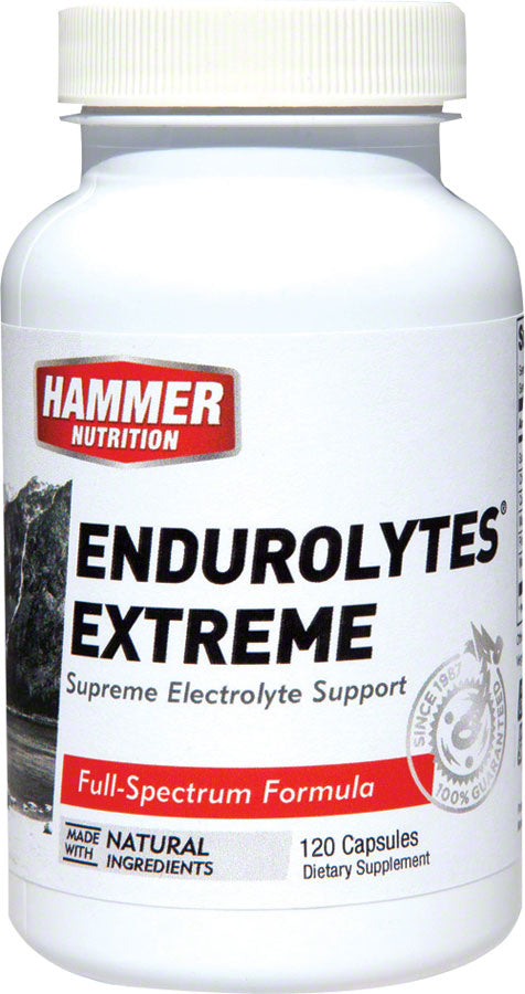 Hammer Endurolytes Extreme: Bottle of 120 MPN: ELX UPC: 602059006479 Supplement and Mineral Endurolyte Capsules