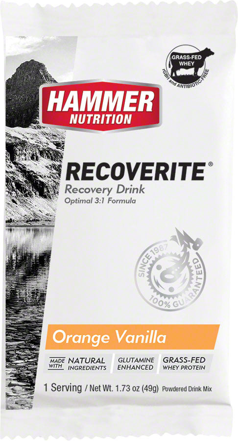 Hammer Recoverite: Orange Vanilla, 12 Single Serving Packets