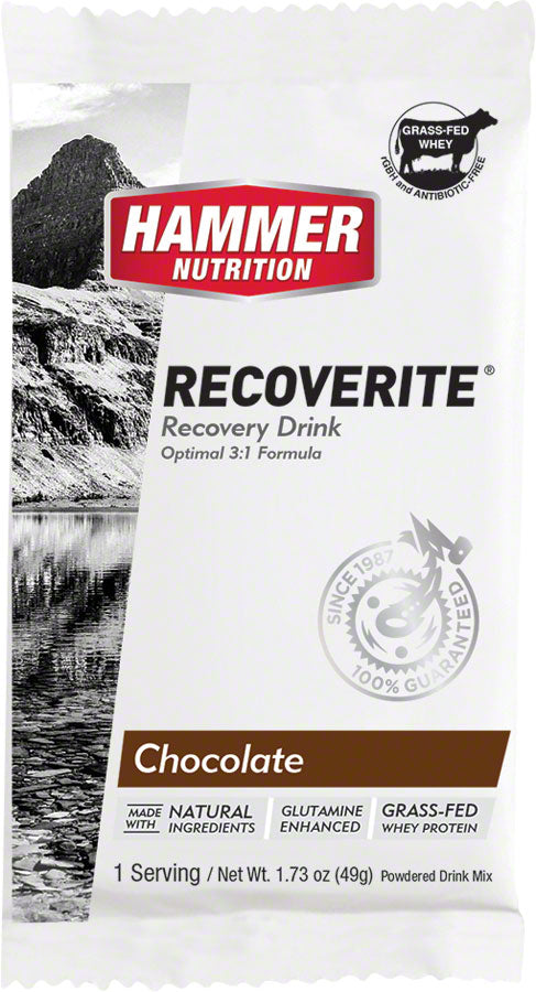Hammer Recoverite: Chocolate, 12 Single Serving Packets