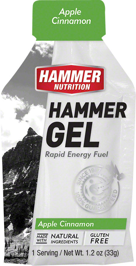 Hammer Gel: Apple-Cinnamon, 24 Single Serving Packets