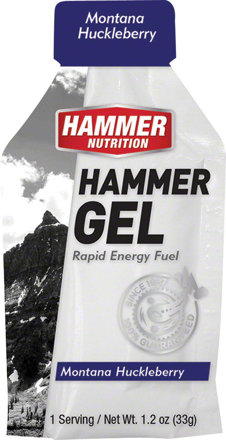 Hammer Gel: Montana Huckleberry, 24 Single Serving Packets