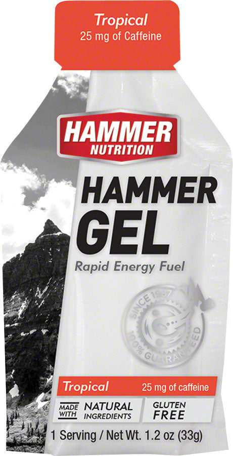 Hammer Gel: Tropical, 24 Single Serving Packets