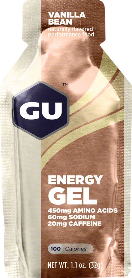 GU Energy Gel: Vanilla Bean, Box of 24 - Gel - Energy Gel