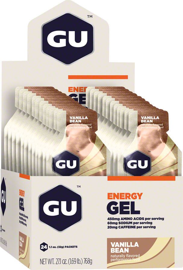 GU Energy Gel: Vanilla Bean, Box of 24 MPN: 123045 UPC: 769493200020 Gel Energy Gel