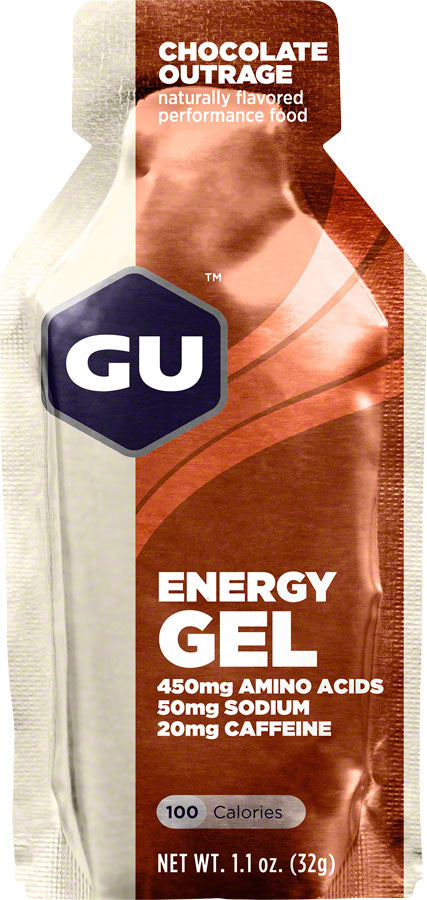 GU Energy Gel: Chocolate, Box of 24 - Gel