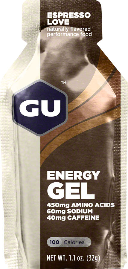 GU Energy Gel: Espresso Love, Box of 24 - Gel - Energy Gel