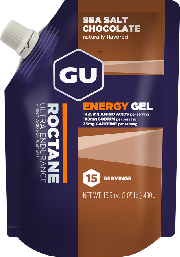 GU Roctane Energy Gel: Sea Salt Chocolate, 15 Serving Pouch MPN: 124102 UPC: 769493100900 Gel Roctane Gel