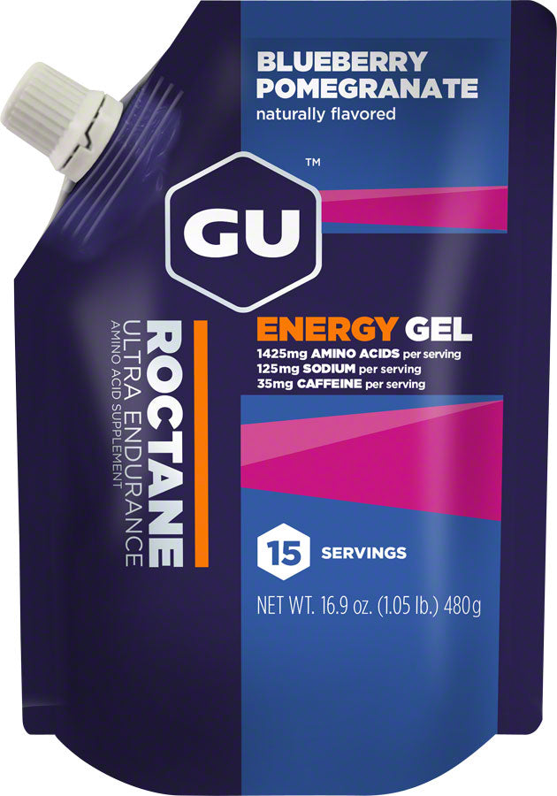 GU Roctane Energy Gel: Blueberry Pomegranate, 15 Serving Pouch MPN: 124103 UPC: 769493100917 Gel Roctane Gel
