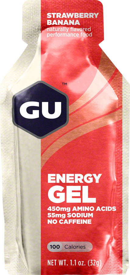 GU Energy Gel: Strawberry/Banana, Box of 24 - Gel - Energy Gel
